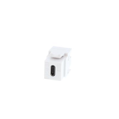 White USB Type C Keystone. 3.1