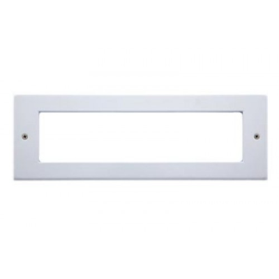 8 Gang Polar White Wall Plate Frame. 250x86mm