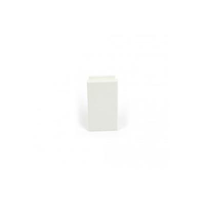 White 25x50mm Reinforced Blank Euro Module.