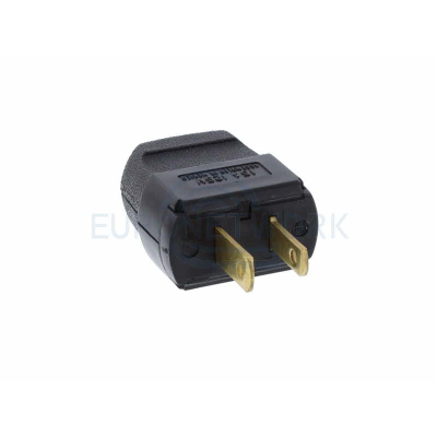 USA 2 Pin rewirable plug.  Non Grounding. 15a / 125v. Nema 1-15P