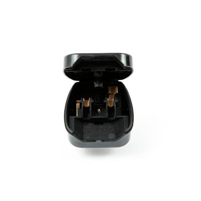 PC8338 Europlug to UK Converter Plug. Black 5 AMP