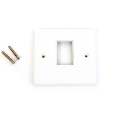 White LJ6C Single Gang Wall Plate. 1 Euro Module