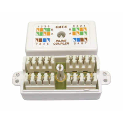 CAT6 Punchdown IDC Krone Coupler. White