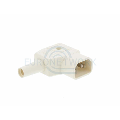 White C14 Right Angle Rewirable IEC. 250v 10A IP20