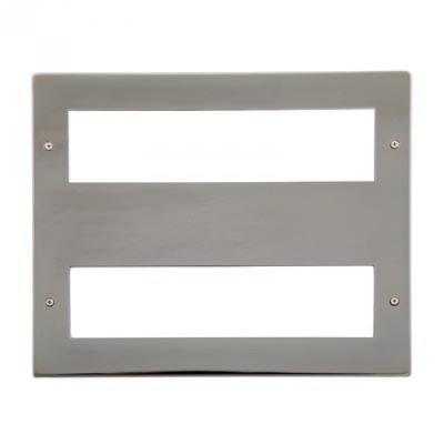 16 Gang Black Nickel Wall Plate Frame. 250x215mm