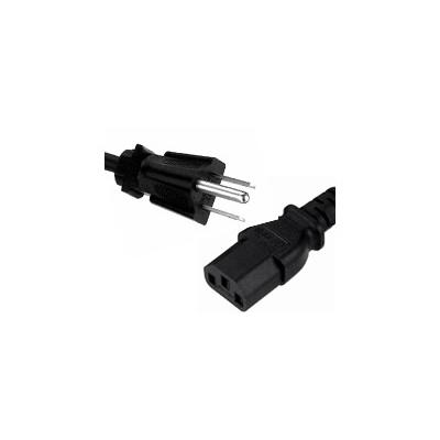 3m US Plug to C13 Mains Lead - Black