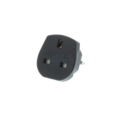 UK to Europe Travel Adaptor   Black 10A