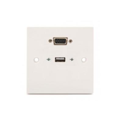 SG Wall Plate VGA, USB A-A. Plug and Play