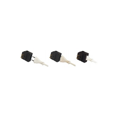 European 2-pin to USA Converter Plug Black (CP4)