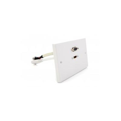 Double Gang HDMI, VGA Coupler Wall Plate