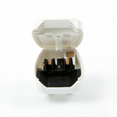 CEE7 Europlug to UK Converter Plug (Hinged Lid) White  10 AMP