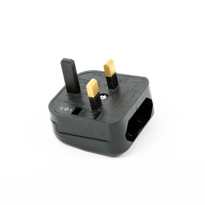Fast Fit European to UK Converter Plug. Black (FCP)