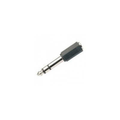 6.3mm Stereo Jack to 3.5mm Stereo Socket Adaptor