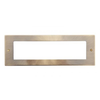 8 Gang Antique Brass Wall Plate Frame. 250x86mm