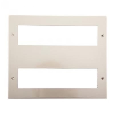 16 Gang Pearl Nickel Wall Plate Frame. 250x215mm