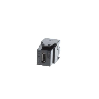Black USB Type C Keystone. 3.1