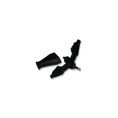 Black European 2-Pin Plug (VDE Approved)