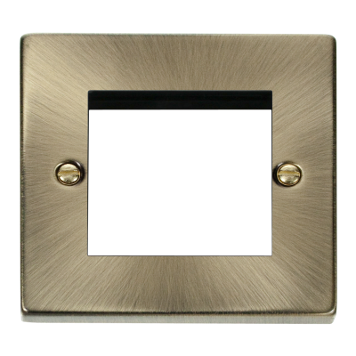 2 Gang Antique Brass Wall Plate Frame. 86x86mm