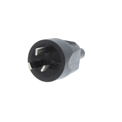 Black Australian Rewireable Plug. 10A, 250v, IP20