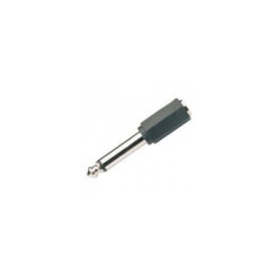 6.3mm Mono Jack to 3.5mm Stereo Socket Adaptor