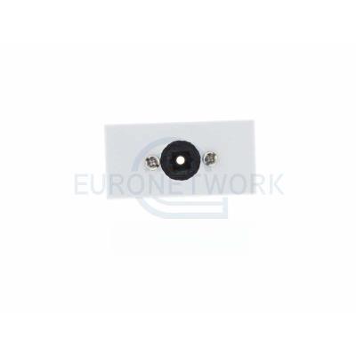 White Toslink Euro Module. 25x50mm