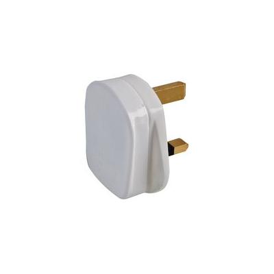 White 13 Amp Rewireable UK Plug