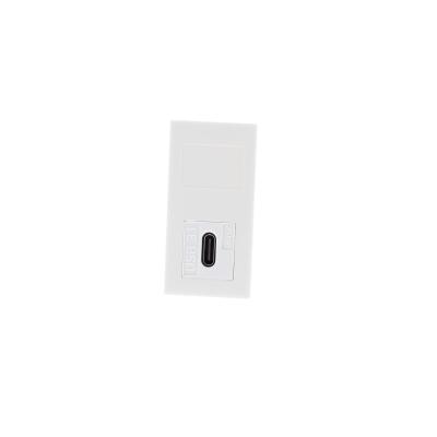 White USB Type C Euro Module.