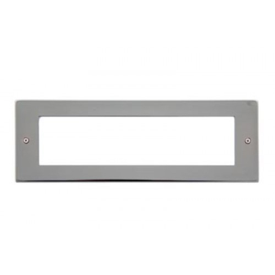 8 Gang Black Nickel Wall Plate Frame. 250x86mm