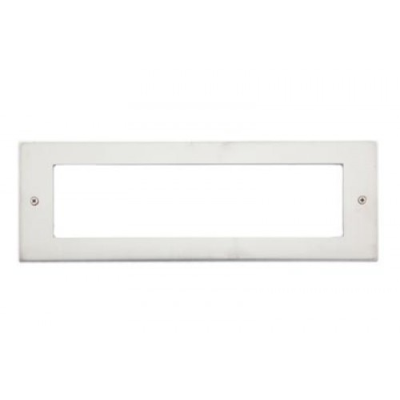 8 Gang Brushed Stainless Wall Plate Frame. 250x86mm