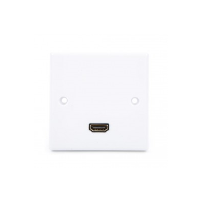 Single Gang HDMI Angled Wall Plate.