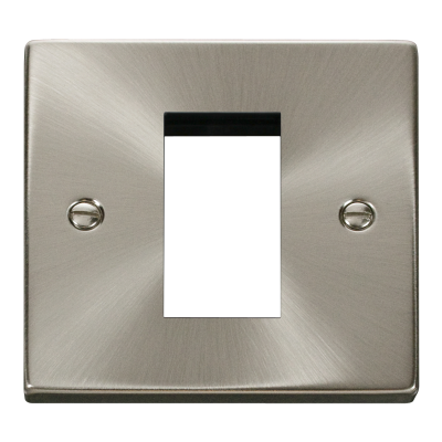 1 Gang Satin Chrome Wall Plate Frame. 86x86mm