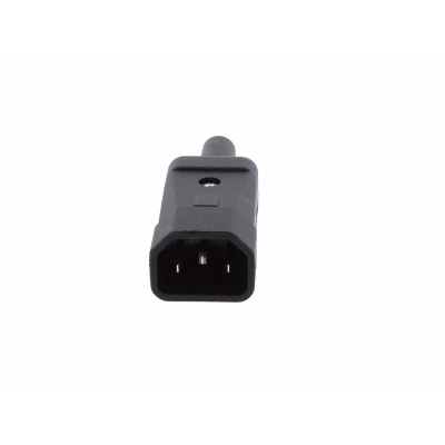 Black Rewireable C14 IEC Male.  10A 250v IP20