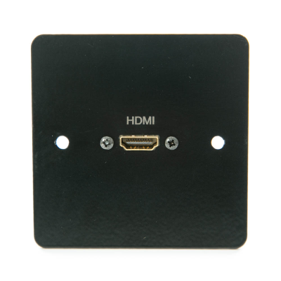Single Gang Black Metal Hdmi Wall Plate 4K2k