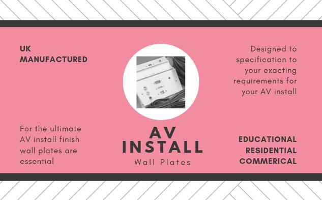 AV Install Wall Plates