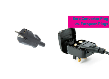 What's the difference between European converter plugs and European rewireable plugs?