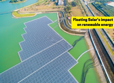 What is a floating solar system, and how is it impacting the renewable energy market?